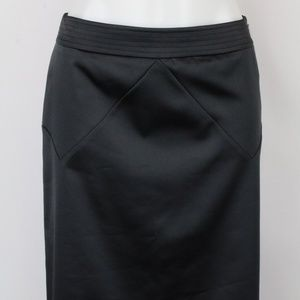 Rebecca Taylor Black Side Zip Pencil Skirt Size 8